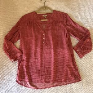Joie red patterned blouse - size small